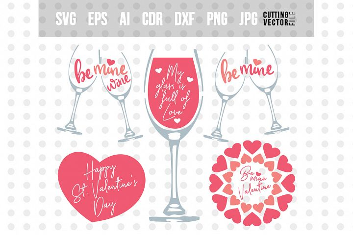 Valentines Day Bundle- svg, eps, ai, cdr, dxf, png, jpg