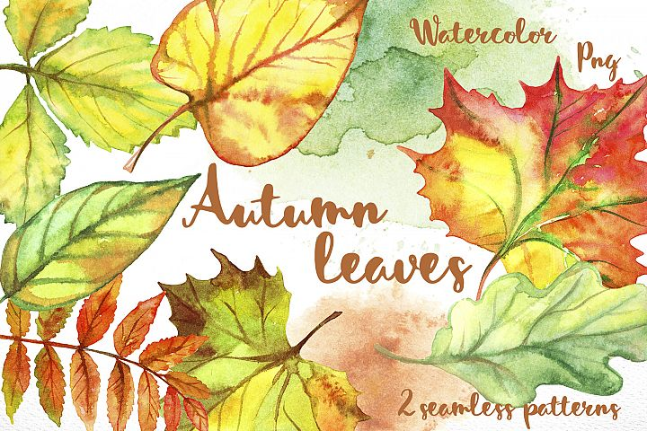Autumn leave. Watercolor.