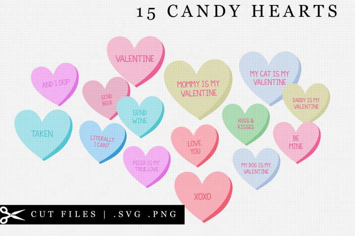 Candy Heart SVG PNG Clip Art Valentines Day