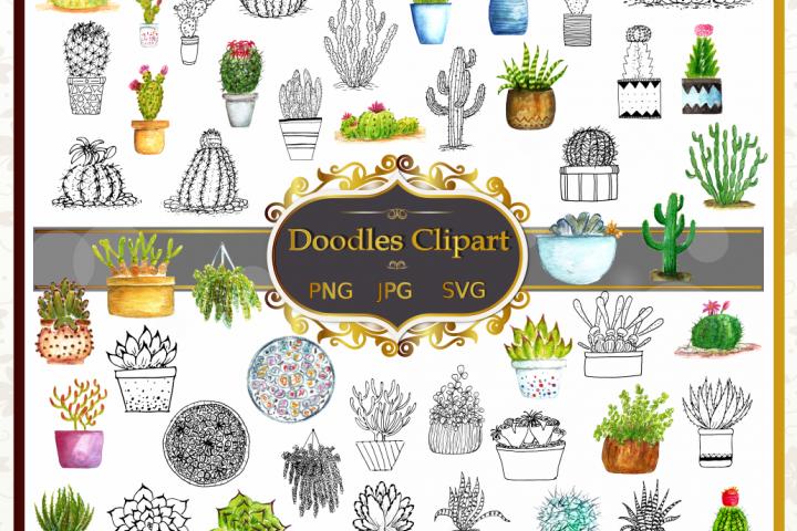 Cactus Vector Clipart Collection