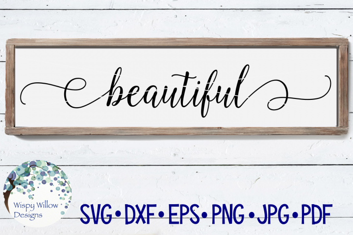 Beautiful Sign SVG Cut File
