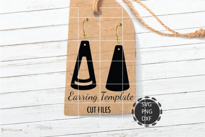 Cone Earrings Svg, Double Cone Earrings Svg