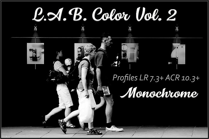 LAB Color Vol. 2 - Monochrome profiles Lightroom ACR