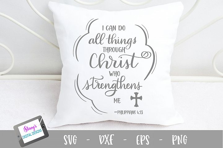 I can do all things through Christ SVG - Christian SVG