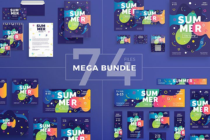 Summer Day Camp Design Templates Bundle