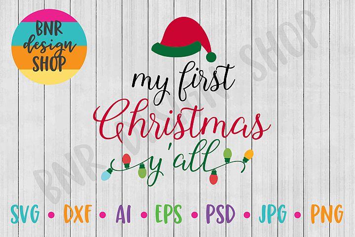 Christmas SVG, First Christmas SVG, SVG File, DXF, Cut File