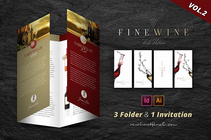 Fine Wine Vol.2 - Folder & Invitation