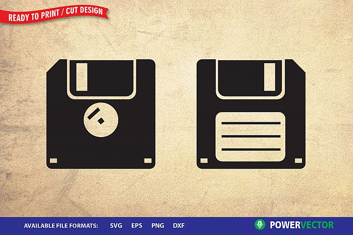 Floppy Disk Svg| Old School Technology Cut Files