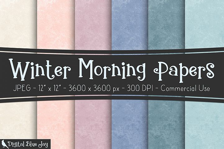 Digital Paper Textured Backgrounds - Winter Morning