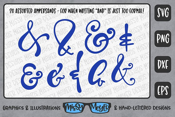 30 Hand-Lettered Ampersands in Various Styles