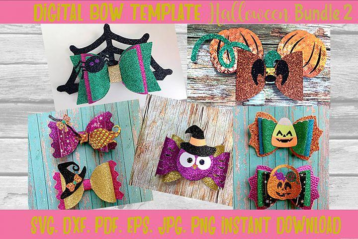 Halloween Hair Bow Template Bundle 2