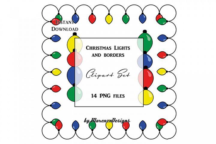 Christmas lights and borders