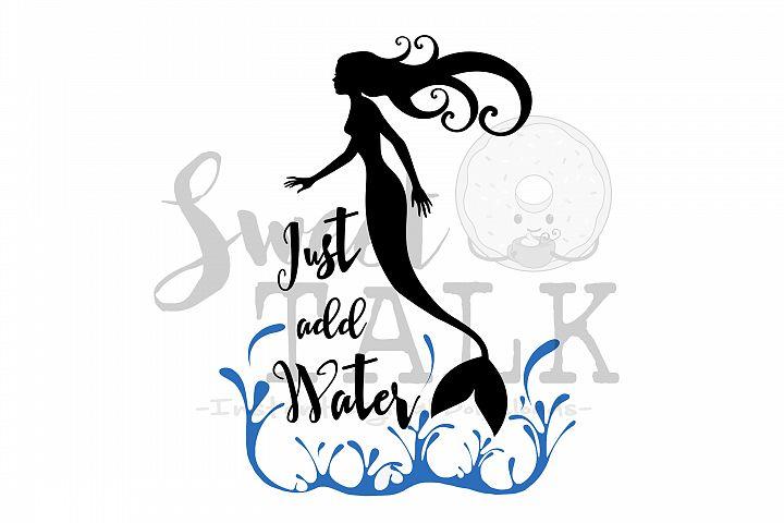 Mermaid-just add water-svg,dxf,png,jpg-Instant Digital Download