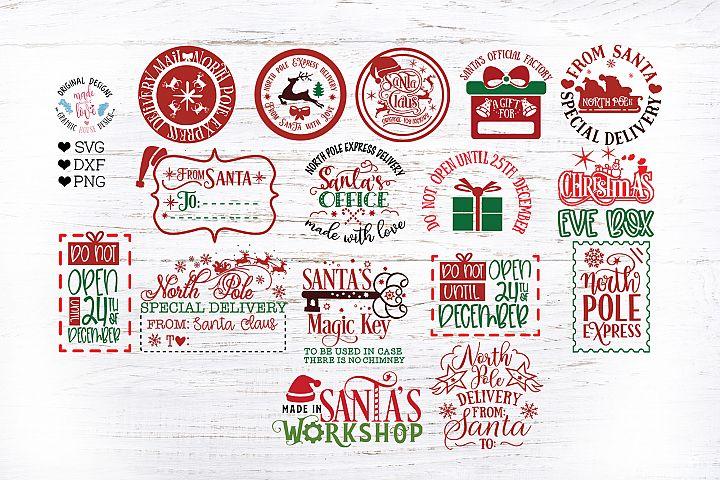 Santa Claus Stamps - Santa Stamps Bundle