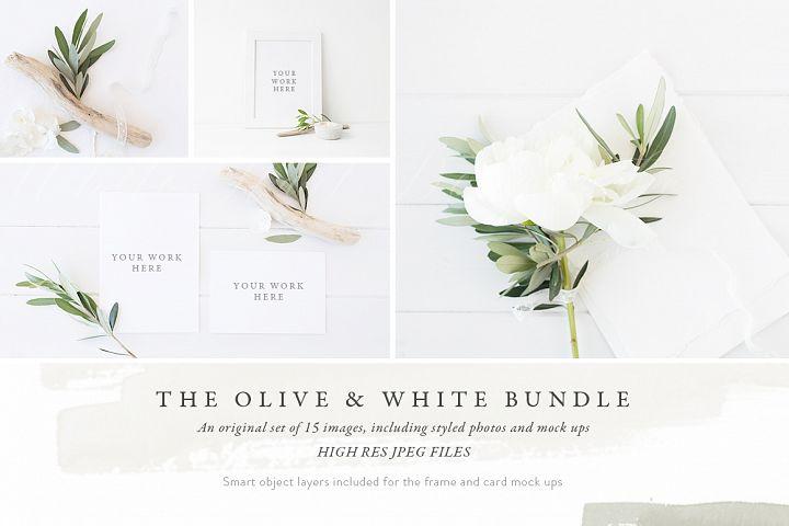 The Olive & White Mockup BUNDLE