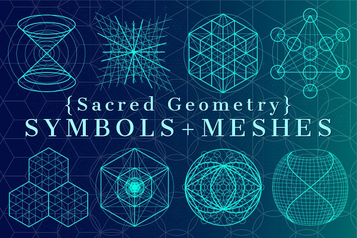 {Sacred Geometry} Symbols + Meshes