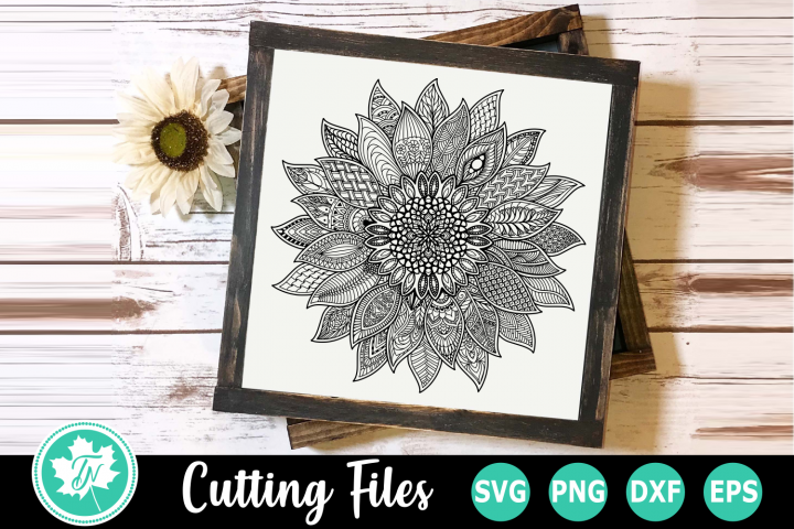 Sunflower - A Zentangle SVG Cut File