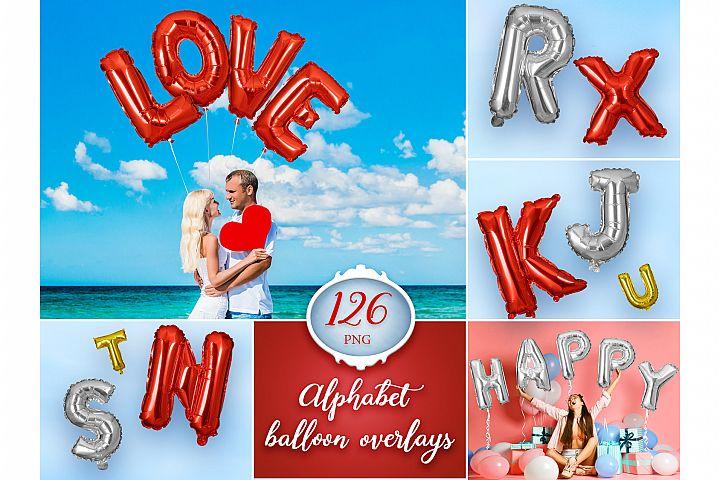 126 Alphabet Balloon Overlays