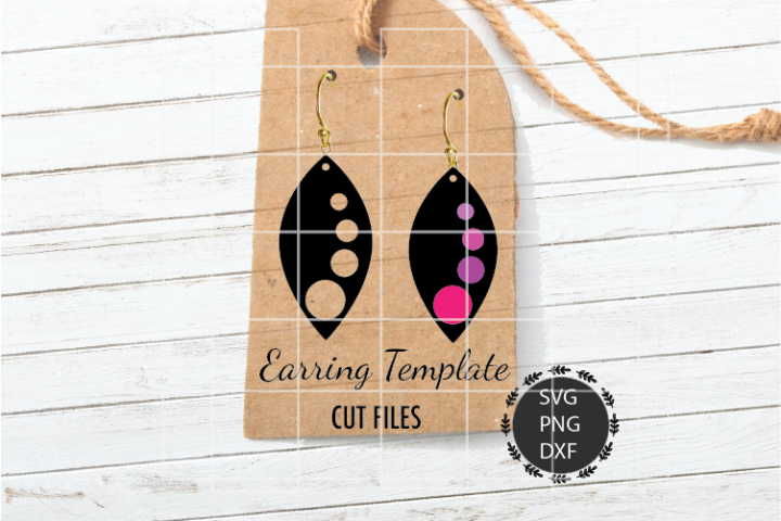 Leaf Earrings Svg, Earrings Svg, Leaf Svg