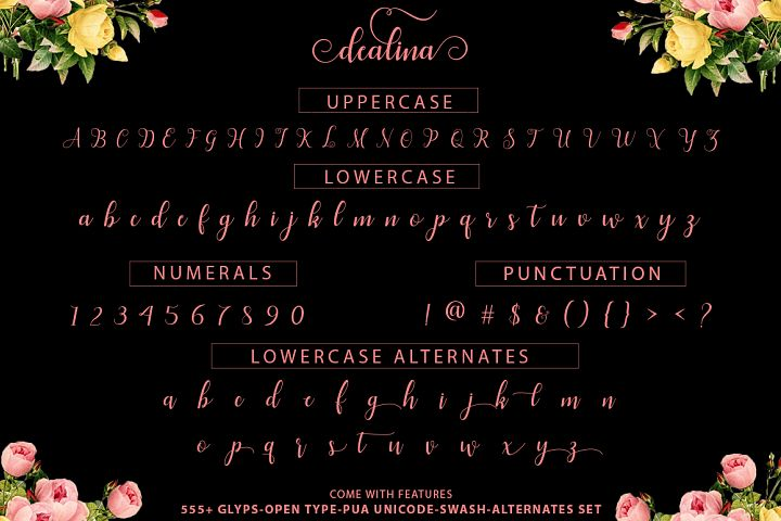 Dealina Script - Free Font of The Week Design1
