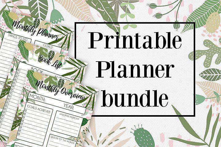 Tropical Printable Planner bundle