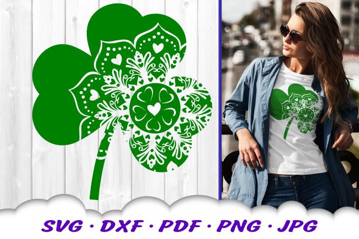 Heart Mandala Shamrock SVG DXF Cut Files