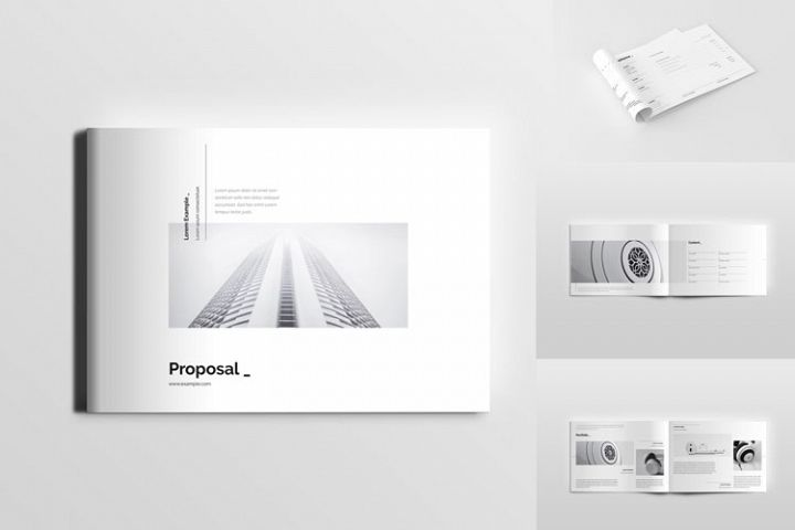 Landscape Minimal Clean Simple Proposal Template