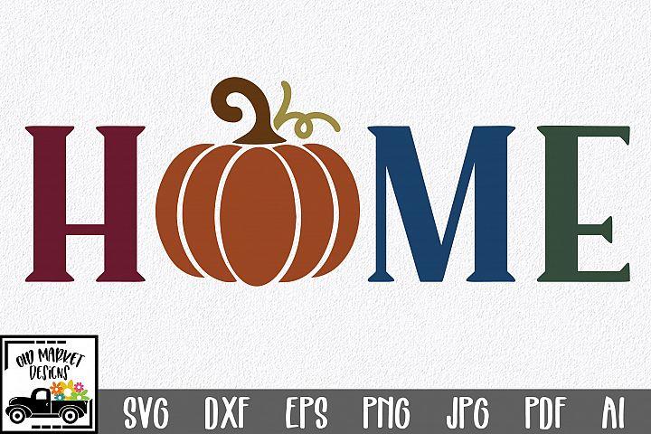 Home SVG Cut File - Fall Pumpkin SVG