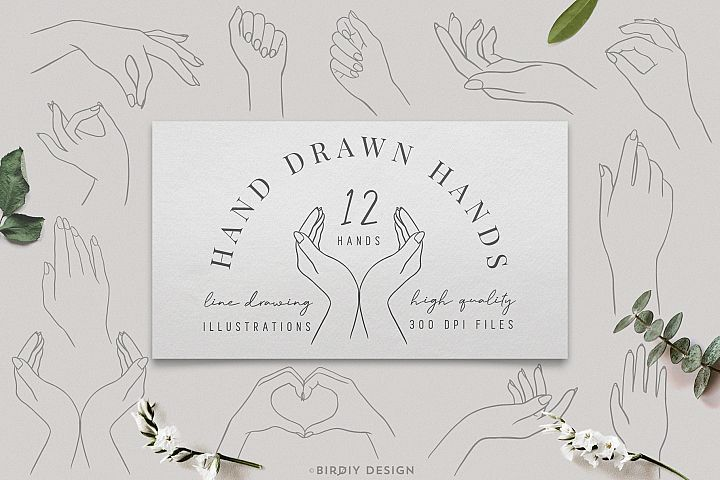 Womens Hands Graphics Set