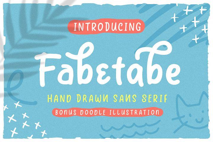 Fabetabe - A Hand Drawn Sans