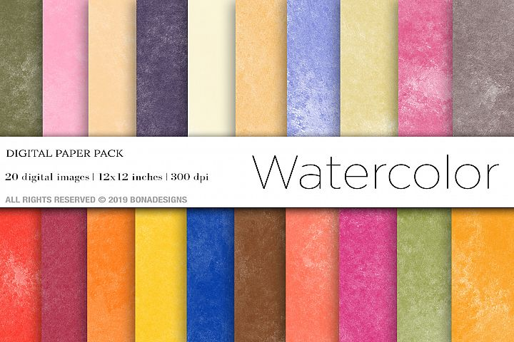 Watercolor Digital Papers, Watercolor Background