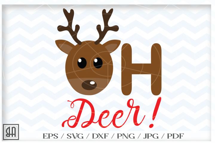 Oh deer Svg - Reindeer Cut Files - Christmas deer SVG file