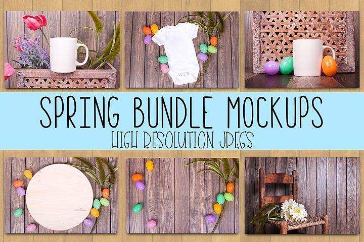 Spring Mockup | A Variety of Spring Themed Mockups