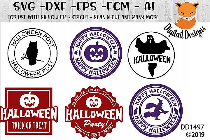Halloween Stamp Sign SVG Bundle