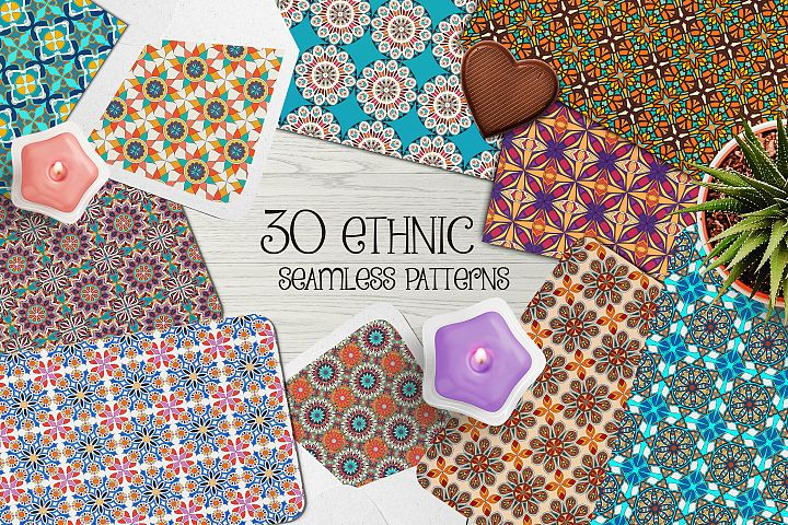 Ethnic seamless pattern collection