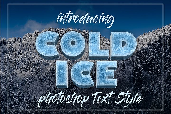 10 Frozen Photoshop Layer Text Style
