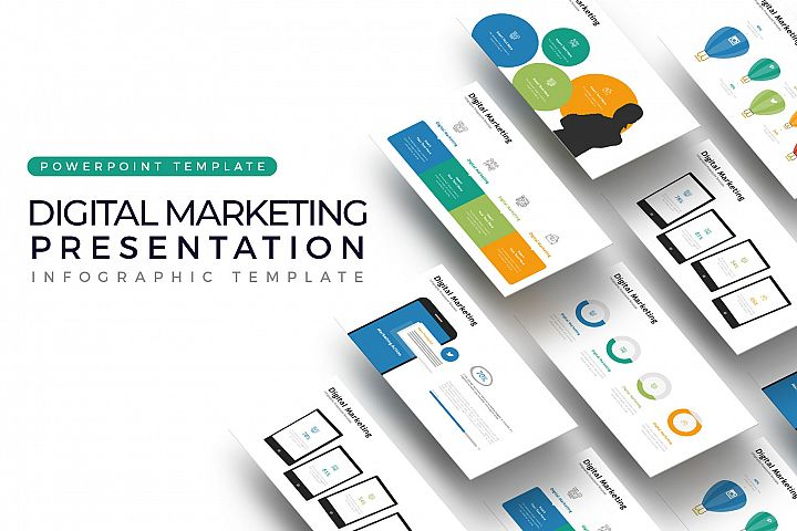 Digital Marketing Presentation - Infographic Template