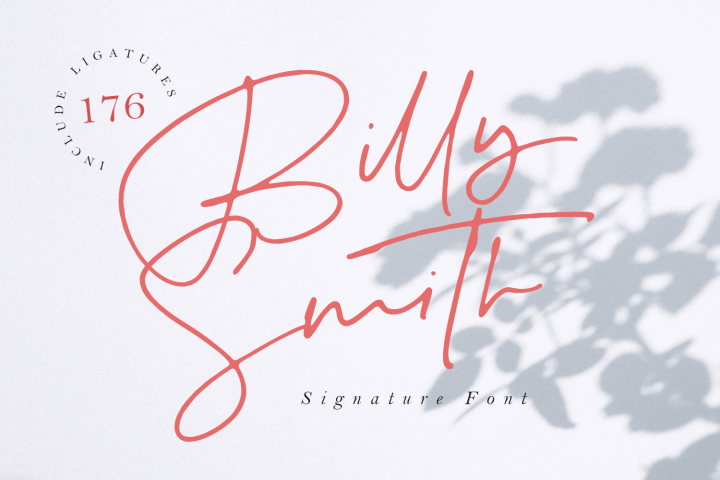 Billy Smith - Signature Font
