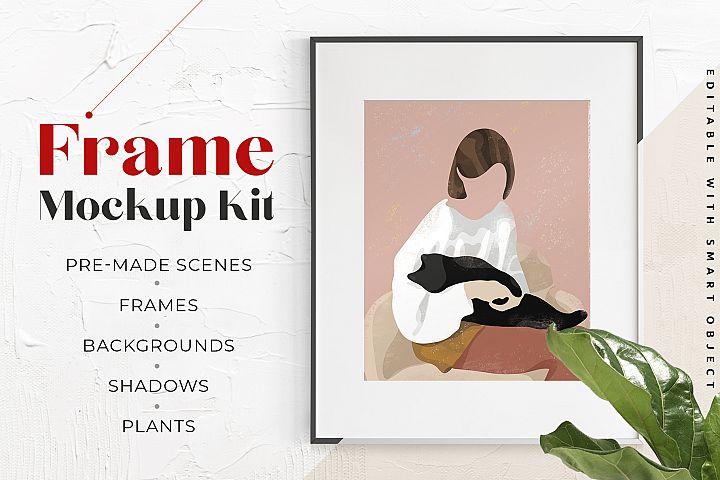 Frame Wall Art Scene Creator Mockup Kit for artists