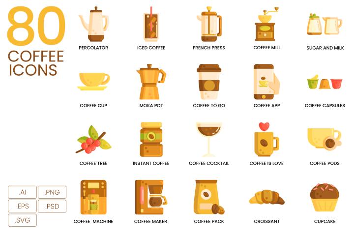 80 Coffee Icons