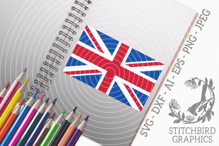 Union Jack SVG, Silhouette Studio, Cricut, Eps, Dxf, PNG, AI