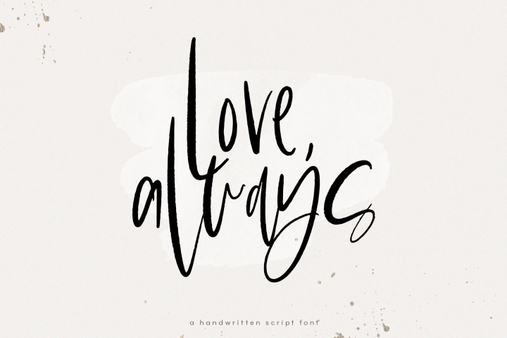 Love Always - A Handwritten Font