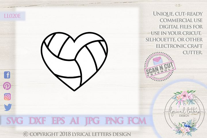 Volleyball Heart SVG DXF LL020E