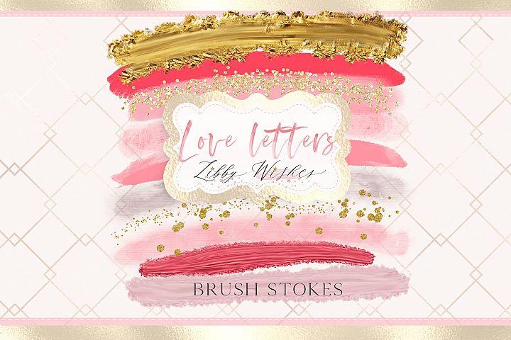 Brush stokes- Love letters