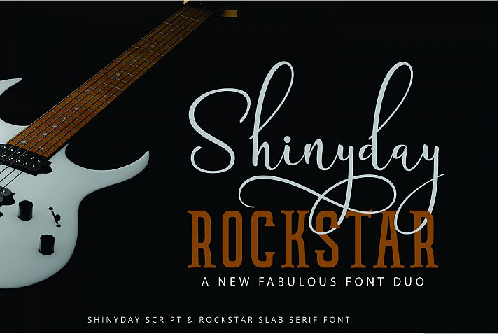 Shinyday & ROCKSTAR font duo - Free Font of The Week