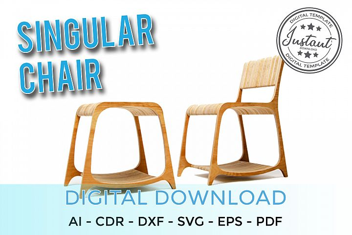Plywood Singular chair for home 3D Puzzle 3D model Vector