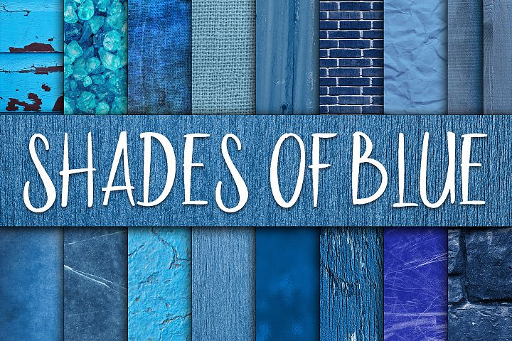 Shades of Blue Digital Paper Textures