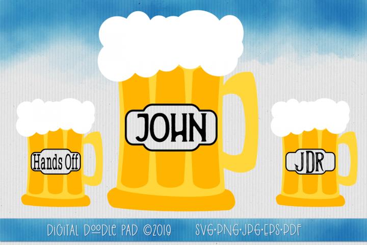 Beer Mug Monogram SVG by Digital Doodle Pad