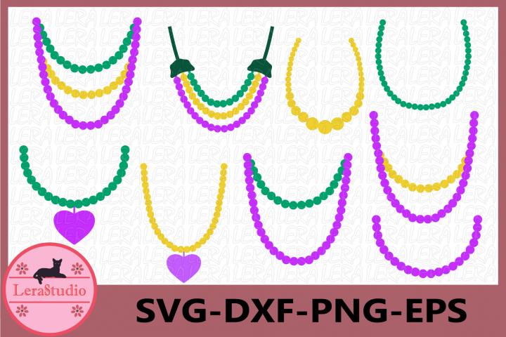 Pearls Svg, Mardi Gras SVG, Pearl Necklace svg Clip Art