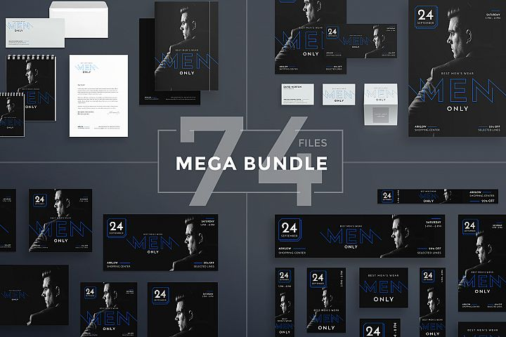 Menswear Fashion Collection Design Templates Bundle